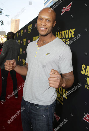 Linton Vassell seen at Open Road Film's Los Angeles Premiere of 'Sabotage,' on in Los Angeles