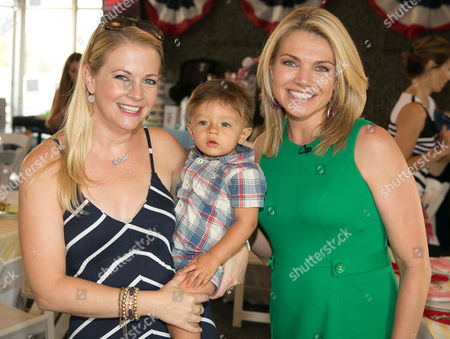 Actress Melissa Joan Hart, son Tucker McFadden Wilkerson and FOX host Heather Nauert seen at Operation Shower and Birdies for the Brave County Fair at Liberty National Golf Course on in Jersey City, NJ