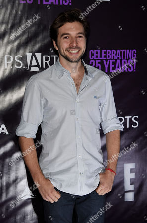 "Actor Roberto Aguire poses at P.S. Arts' ""the pARTy!"" at Neuehouse, in Los Angeles"