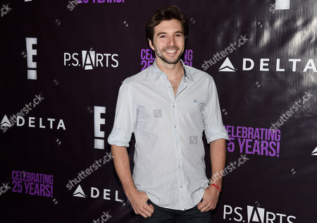 "Stock Picture of Actor Roberto Aguire poses at P.S. Arts' ""the pARTy!"" at Neuehouse, in Los Angeles"
