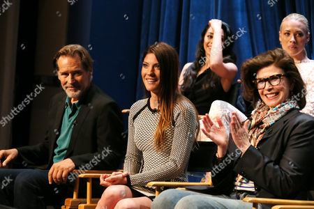 Stock Picture of James Remar, Jennifer Carpenter and executive producer Sara Colleton seen at PaleyFest Previews: Fall Farewell with Dexter, on Thursday, Sep, 12, 2013 in Beverly Hills, Calif