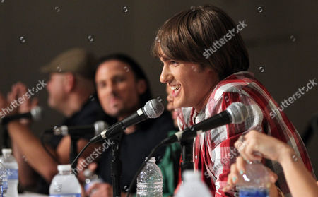 """Stock Image of Power Rangers Super Samurai"""" cast member Alex Heartman answers a question from fans during an exclusive Q&A panel at the Power Morphicon Convention 2012, on in Pasadena, Calif"""