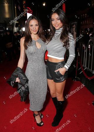 Melissa Riso and Arianny Celeste attend the premiere of 'Manny' at TCL Chinese Theatre on in Los Angeles