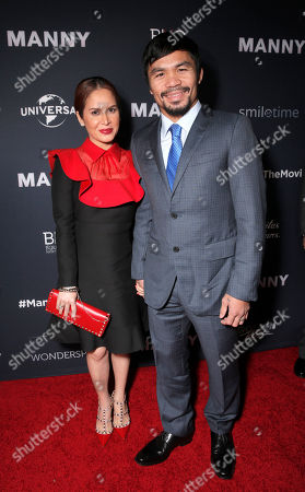 Jinkee Pacquiao and Manny Pacquiao attend the premiere of 'Manny' at TCL Chinese Theatre on in Los Angeles