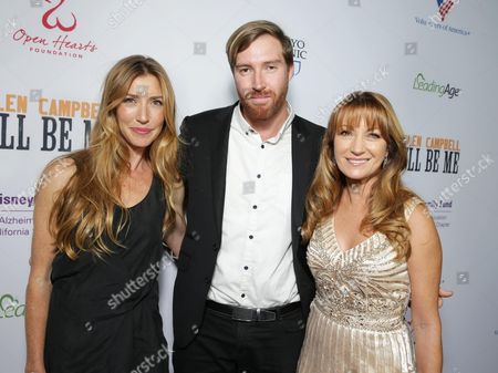 Katherine Flynn, Sean Flynn and Exec. Producer Jane Seymour seen at Los Angeles Premiere of 'Glen Campbell: I'll be Me', in Los Angeles, CA