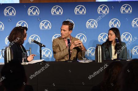 Katherine Oliver (left), Christian Murphy, and Kate Bowen seen at Produced By: New York 2016 at the Time Warner Center on Saturday, October 29th, 2016, in New York City, NY