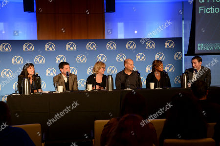 Stock Photo of Glenda Hersh (left), Rob Miller, Mary Donahue, Stephen David, Tiffany Lea Williams, and David George seen at Produced By: New York 2016 at the Time Warner Center on Saturday, October 29th, 2016, in New York City, NY