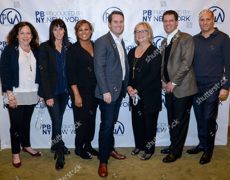 Stock Image of Debbie Myers (left), Glenda Hersh, Tiffany Lea Williams, David George, Mary Donahue, Rob Miller, and Stephen David seen at Produced By: New York 2016 at the Time Warner Center on Saturday, October 29th, 2016, in New York City, NY