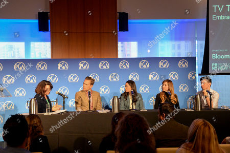 Katherine Oliver (left), Christian Murphy, Kate Bowen, Lisa Schomas, and Jeremy Chilnick seen at Produced By: New York 2016 at the Time Warner Center on Saturday, October 29th, 2016, in New York City, NY