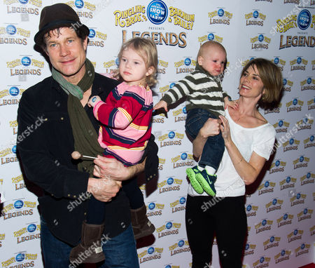 Dylan Walsh and family attend the Ringling Bros. and Barnum & Bailey Present Legends circus on in New York