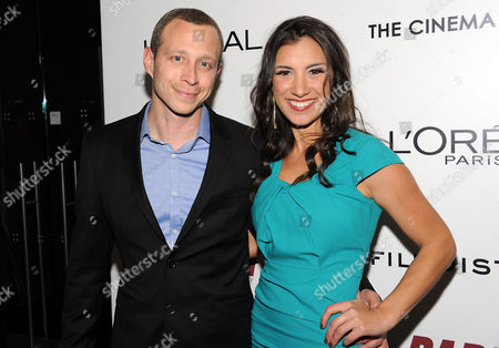 "Actor Micah Hauptman and guest Annika Marks attend a special screening of ""Parker"" hosted by The Cinema Society at the Museum of Modern Art on in New York"
