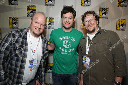 Director Cody Cameron, Bill Hader and Director Kris Pearn seen at Sony Pictures Presentation at 2013 Comic-Con, on Friday, July, 19, 2013 in San Diego, Calif
