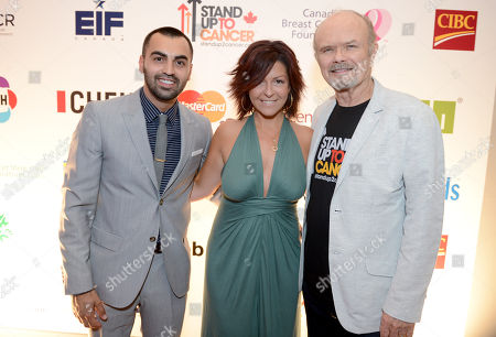 Ayman Hbeichi, and from left, Nicki Laborie and Kurtwood Smith attend Stand Up To Cancer Canada, in Toronto