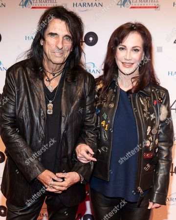 Alice Cooper, left, and Sheryl Goddard Attend the T.J Martell Foundation 40th Anniversary Honors Gala, in New York