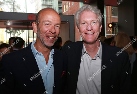 Eric Fellner, left, and Chris McGurk attend The Hollywood Reporter celebration for the Breakthrough in Film Award honorees at TIFF at the Thompson Hotel, in Toronto