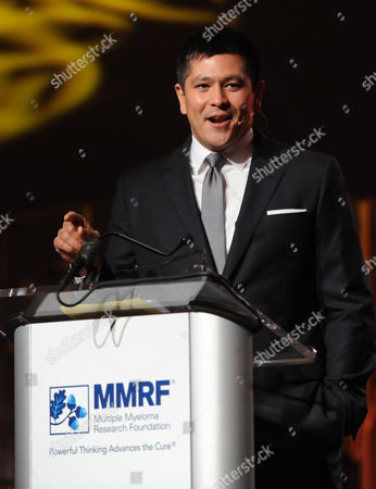 CNBC Anchor Carl Quintanilla speaks during the Multiple Myeloma Research Foundation at the 15th Anniversary Fall Gala supporting cancer research on in Greenwich, Conn