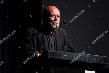 Francesco Clemente speaks at the The Museum of Modern Art Film Benefit 2014, in New York