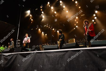 Paul Westerberg, Dave Minehan, Tommy Stinson and Josh Freese joined By Green Day's Billie Joe Armstrong with The Replacements at the Shaky Knees Music Festival, in Atlanta