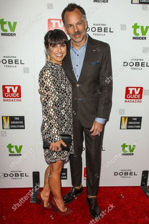 Constance Zimmer, left, and Russ Lamoureux attend The Television Industry Advocacy Awards Gala at Sunset Tower Hotel on in Los Angeles