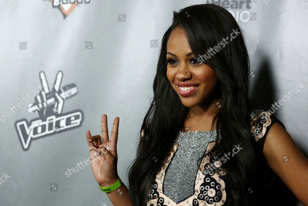 """Sasha Allen arrives at """"The Voice"""" season 4 red carpet event at the House of Blues on in Los Angeles"""