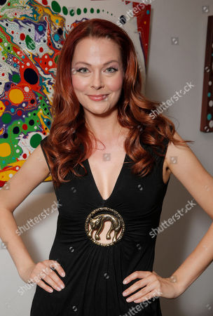 Anna Easteden attends the This Way & That Art Exhibit at Seyhoun Gallery on Friday, August 22, in Los Angeles