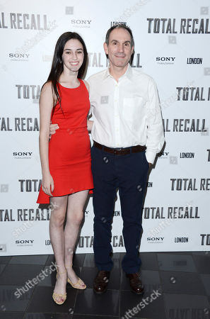 Isabelle Jaffe, Toby Jaffe poses at Total Recall UK Premiere at Vue Leicester Square on in London