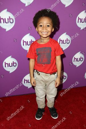 """Stock Photo of Actor Kaleo Elam arrives at The Hub's """"Transformers Prime Beast Hunters"""" World Premiere Screening Event on in Universal City, Calf"""