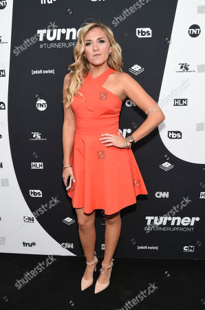 Actress Jessica Lowe attends the Turner Network 2016 Upfronts at Nick & Stef's Steakhouse, in New York