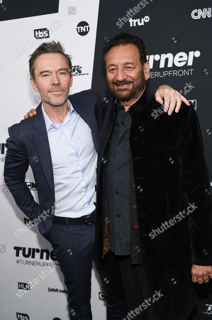Executive producer Craig Pearce, left, and director Shekhar Kapur attend the Turner Network 2016 Upfronts at Nick & Stef's Steakhouse, in New York