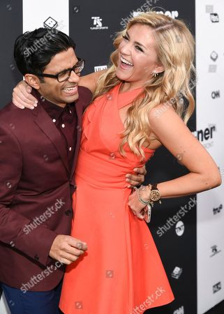 Asif Ali and Jessica Lowe attend the Turner Network 2016 Upfronts at Nick & Stef's Steakhouse, in New York