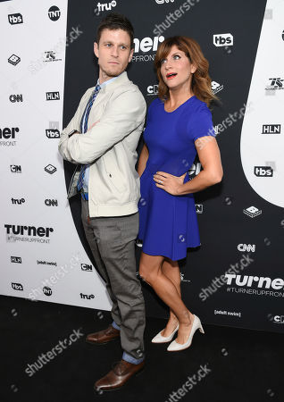 Kevin Pereira and Brooke Van Poppelen attend the Turner Network 2016 Upfronts at Nick & Stef's Steakhouse, in New York