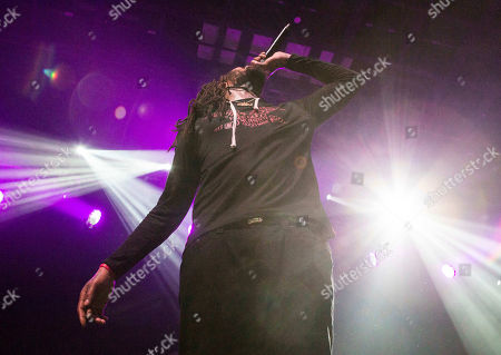Stock Image of Juaquin James Malphurs Waka Flocka Flame performs during the Waka Flocka Flame: Flockaveli 1.5 Release Show at Center Stage Theater, in Atlanta