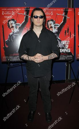 """Stock Image of Damien Echols attends the premiere of """"West of Memphis"""" at Florence Gould Hall on in New York"""