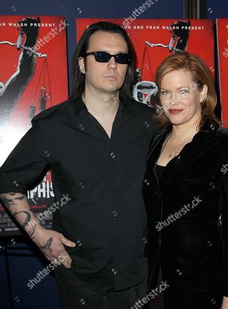 "Damien Echols and Lorri Davis attend the premiere of ""West of Memphis"" at Florence Gould Hall on in New York"