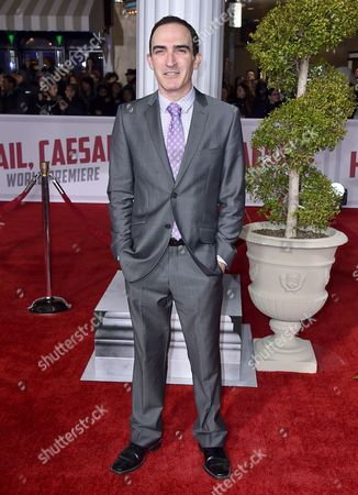 "Patrick Fischler arrives at the world premiere of ""Hail, Caesar!"" at the Regency Village Theatre, in Los Angeles"
