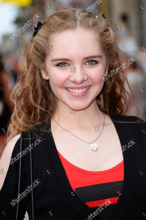 "Darcy Rose Byrnes arrives at the world premiere of ""Planes: Fire And Rescue"" at El Capitan Theatre, in Los Angeles"