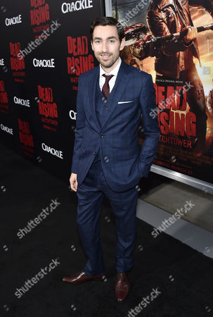 """Stock Picture of Director Zach Lipovsky attends the world premiere of Crackle's """"Dead Rising Watchtower"""" at Sony Pictures Studios, in Culver City, Calif"""