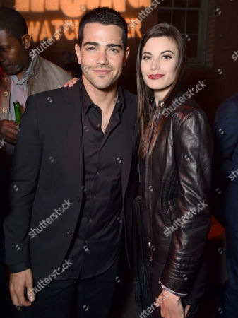 """Jesse Metcalfe, left, and Meghan Ory attend the world premiere of Crackle's """"Dead Rising Watchtower"""" at Sony Pictures Studios, in Culver City, Calif"""