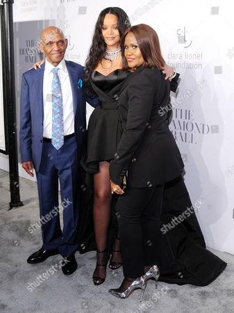 Lionel Braithwaite, Rihanna and Monica Fenty