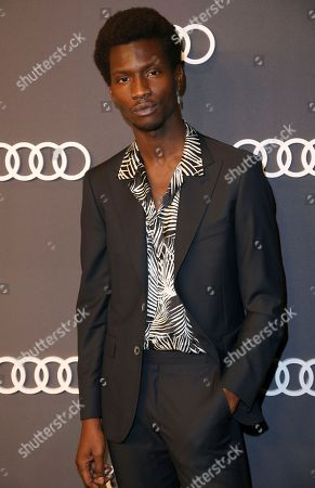 Adonis Bosso arrives at the 69th Primetime Emmy Awards Audi pre party at The Highlight Room, in Los Angeles