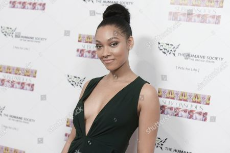 """Bria Murphy attends """"Subconscious"""" by Bria Murphy Gallery Opening at Lace Gallery, in Los Angeles"""