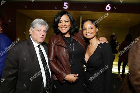 "Producer Vince Cirrincione, Lela Rochon and Robin Bobeau seen at a ""Supremacy"" Special Screening held at the Landmark West LA, in Los Angeles, CA"
