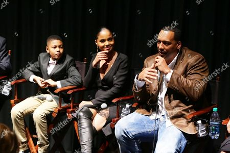"""Alex Henderson, Robin Bobeau and Director Deon Taylor seen at a """"Supremacy"""" Special Screening held at the Landmark West LA, in Los Angeles, CA"""
