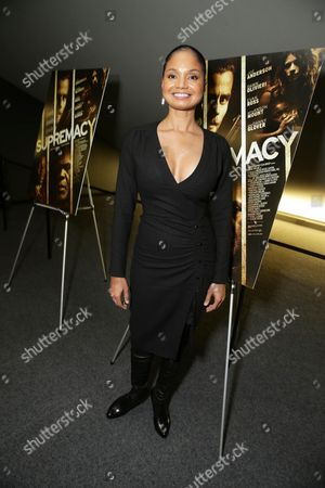 """Robin Bobeau seen at a """"Supremacy"""" Special Screening held at the Landmark West LA, in Los Angeles, CA"""