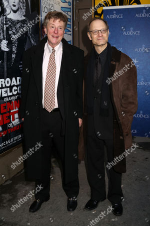 """Brian Hargrove, left, and David Hyde Pierce attend the Broadway opening night of """"The Audience"""" at The Gerald Schoenfeld Theatre, in New York"""