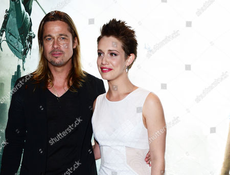 Brad Pitt and Daniella Kertesz arrive at the World Premiere of 'World War Z' at the Empire Cinema in London on Sunday June 2nd, 2013