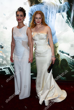 Daniella Kertesz and Mireille Enos arrive at The World Premiere of 'World War Z' at the Empire Cinema in London on Sunday June 2nd, 2013