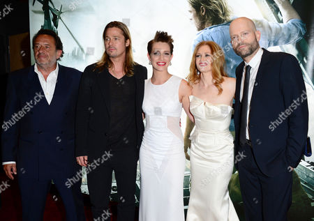 World War Z' World Premiere Ludi Boeken, Brad Pitt, Daniella Kertesz, Mireille Enos and Marc Forster arrive at the World Premiere of 'World War Z' at the Empire Cinema in London on Sunday June 2nd, 2013