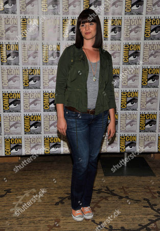 """Stock Photo of Amy Newbold attends the """"Divergent"""" press line on Day 2 of Comic-Con International on in San Diego, Calif"""