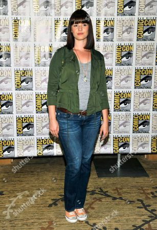 """Amy Newbold attends the """"Divergent"""" press line on Day 2 of Comic-Con International on in San Diego, Calif"""